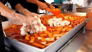 Giant Iron plate Tteokbokki - Korean street food