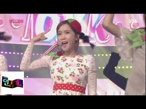 [딸기우유(Strawberry Milk)] OK(오케이) @인기가요 Inkigayo 141026