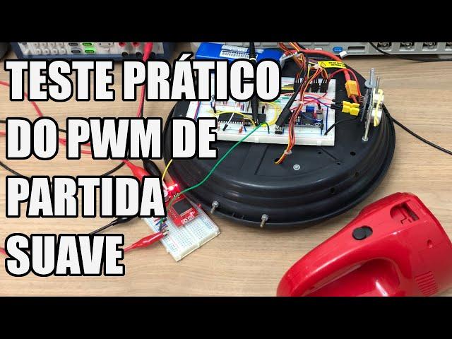 PARTIDA SUAVE DO MOTOR DO ASPIRADOR NA PRÁTICA   Usina Robots US-3 #047