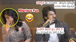 Vijay Devarakonda hilarious reply to reporter's silly ques..