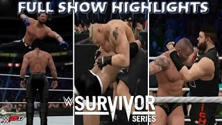 WWE 2K17 SURVIVOR SERIES 2016 FULL SHOW - PREDICTION HIGHLIGHTS