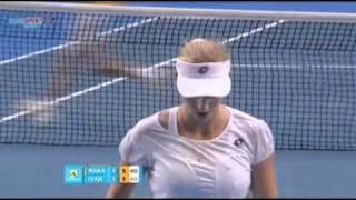 [HL] Ana Ivanovic v. Ekaterina Makarova 2011 Australian Open [R1] [2/2]