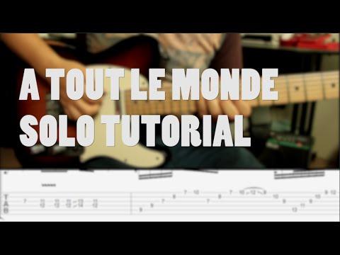 Megadeth - A Tout Le Monde TUTORIAL SOLO de Guitarra (HD)