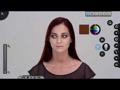 la cantante che si fa Photoshoppare durante il video. Csemer Boglárka in Nouveau Parfum