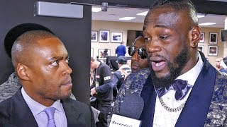 Deontay Wilder REACTION after DRAW RESULT with Tyson Fury.