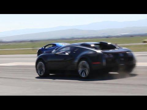 Lamborghini Huracan SMOKES a Bugatti Veyron  at Shift-S3ctor Coalinga 2016