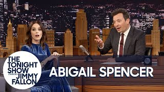 Jimmy Shocks Abigail Spencer with Bloopers of Her Clumsiest Timeless Moments