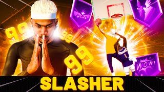 This SLASHER BUILD CAN'T BE STOPPED at 99 OVERALL! BEST GUARD BUILD NBA 2K21!