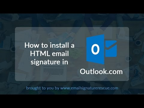 How to install a signature in Outlook.com