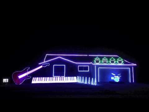 Amazing and Hilarious Christmas Light Show! - Christmas Can Can