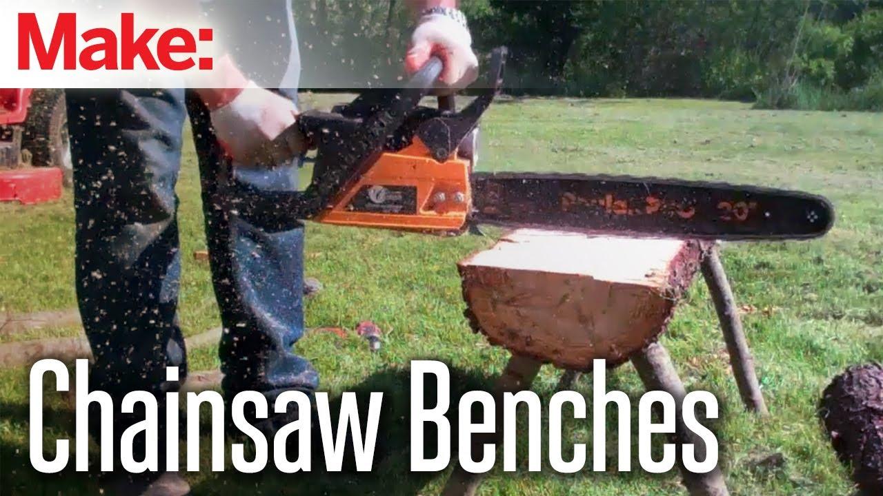 Diresta Split Log Benches Youtube