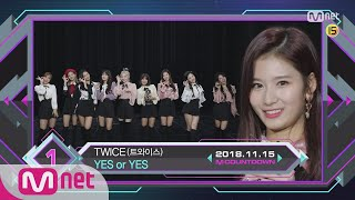 Top in 2rd of November, 'TWICE' with 'YES or YES', Encore Stage! (in Full) M COUNTDOWN 181115 EP.596