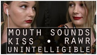 TWIN ASMR Mouth Sounds, Kisses, Unintelligible, Left Side/Right Side, Rawr, Mic Scratching