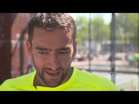Cilic Inspires Kids At Flushing Meadows 2016