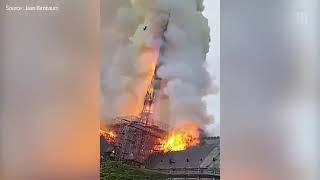 Notre Dame de Paris   les images de l'incendie   YouTube 360p