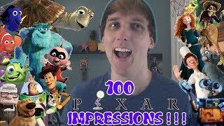 100 PIXAR Voice Impressions!!! (Disney Impressions)