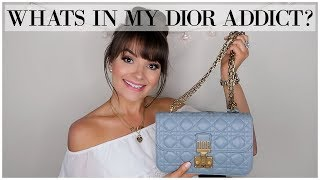 WHAT FITS IN MY DIOR ADDICT HANDBAG? || October 2017 ♥