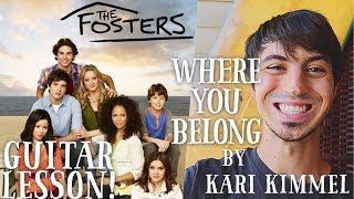 Where You Belong by Kari Kimmel Guitar Lesson //
