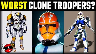 Which is the WORST CLONE TROOPER? | Star Wars Compared ft. EckhartsLadder