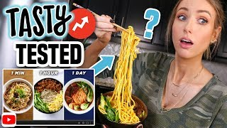 I Tried Making the TASTY 1-Minute vs. 1-Hour vs. 1-Day NOODLES from BUZZFEED...
