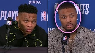 "Damian Lillard Says ""Westbrook Is The WORST POINT GUARD In THE NBA"" And Russell Westbrook GOES CRAZY"