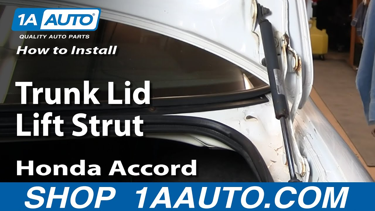 How To Install Replace Trunk Lid Lift Strut Honda Accord