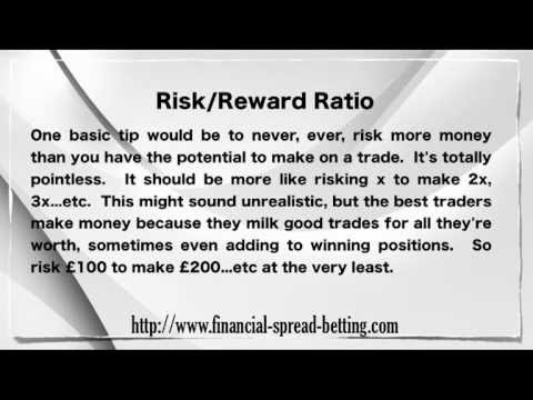 Risk Reward Ratio in Spread Betting
