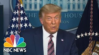 Trump Falsely Claims Victory In 2020 Election During White House Briefing | NBC Nightly News