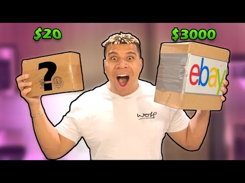 $20 VS $3,000 EBAY MYSTERY BOX! (OMG)