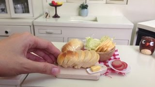 Miniature Food Cooking: White Loaf Bread 흰 빵 白パン 白面包 ขนมปังขาว (functional cooking toy) (MiniFood)