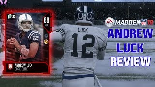 ANDREW LUCK REVIEW | MADDEN 18 PLAYER REVIEWS☆