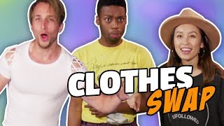 EXTREME CLOTHES SWAP CHALLENGE (Squad Vlogs)