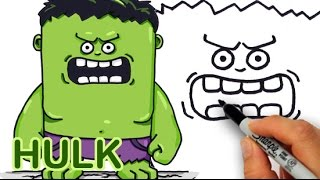 How to Draw HULK Cute and Easy