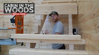 Cabin in the Woods 43: Installing an Open Frame Timber Staircase