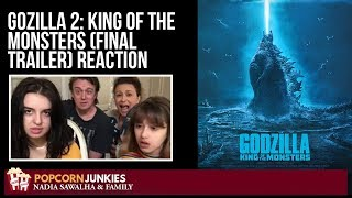 Godzilla 2 : King of the Monsters (FINAL TRAILER) The Popcorn Junkies Family Reaction