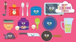 Kitchen for kids   Kids learning video
