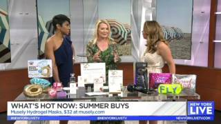 Musely hydrogel masks on NBC New York Live - 062117