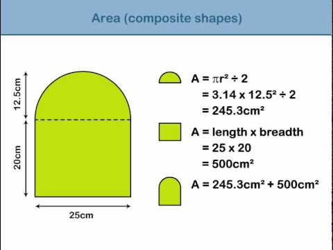 area of composite shapes youtube. Black Bedroom Furniture Sets. Home Design Ideas