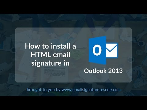 How to install a signature in Outlook 2013