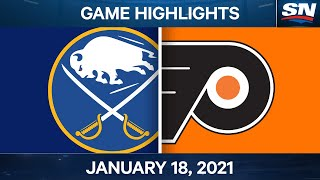 NHL Game Highlights | Sabres vs. Flyers - Jan. 18, 2021