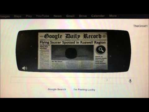 UFO Google Doodle July 8th. Illuminati Freemason Symbolism. NWO - Smashpipe People