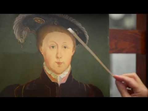 Conserving a portrait of King Edward VI