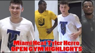 Miami Heat Tyler Herro OPEN GYM HIGHLIGHTS!! Deonte Burton, Michael Foster, & MORE!!