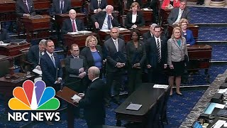 House Managers Officially Deliver Articles Of Impeachment To The Senate | NBC News