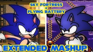 """Flying Fortress Zone"" EXTENDED Flying Battery + Sky Fortress Mashup"