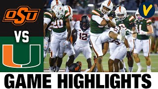 #21 Oklahoma State vs #18 Miami Highlights | 2020 Cheez-It Bowl Highlights| 2020 College Football