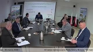 XII sesja nadzwyczajna Rady Gminy Brzuze