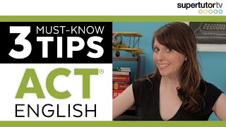 ACT English : 3 Must Know Grammar Tips!!! Tricks and Strategies for KILLING the English Section