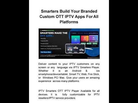 Fully customizable And Brandable OTT IPTV Apps For All Platforms