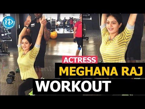Exclusive : Actress Meghana Raj Workout in Gym